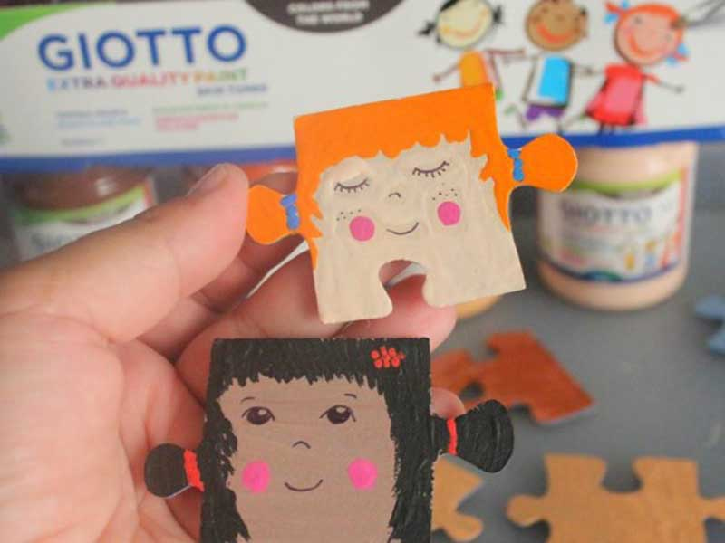 How to make amazing faces on puzzle with Giotto Skintones!